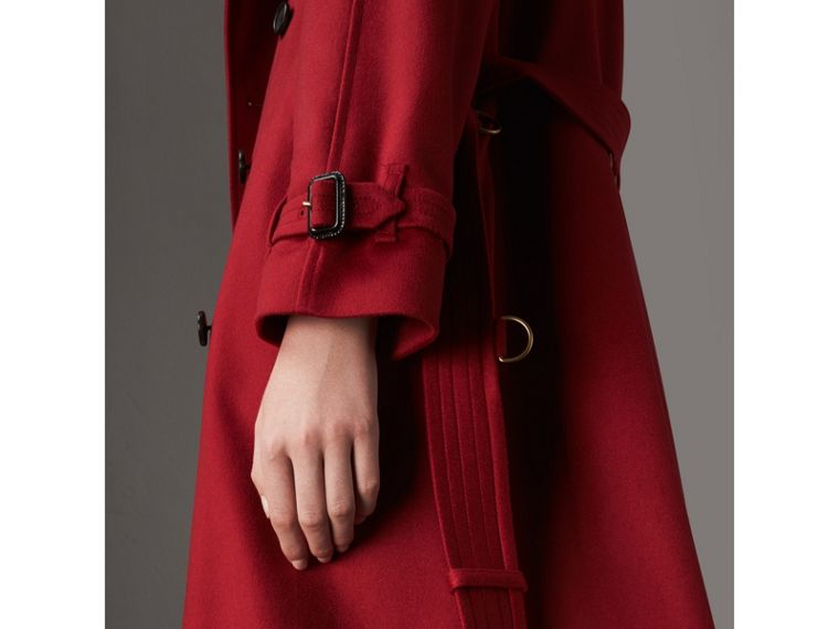 Cashmere Trench Coat in Parade Red - Women | Burberry - cell image 1