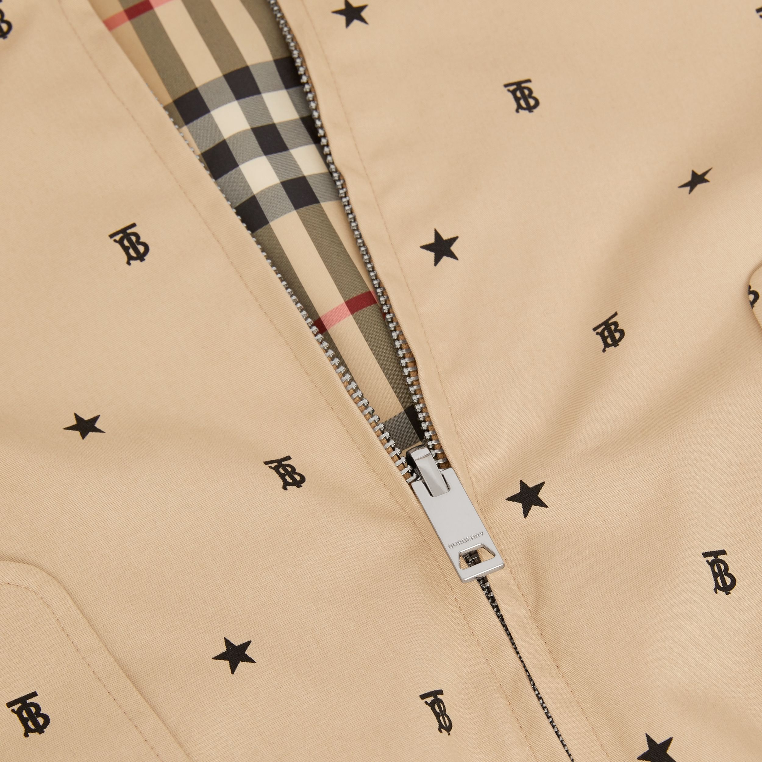 Reversible Star and Monogram Motif Cotton Jacket in Sand | Burberry - 2