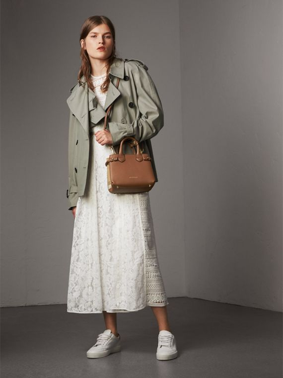 The Baby Banner in Leather and House Check in Tan - Women | Burberry - cell image 2