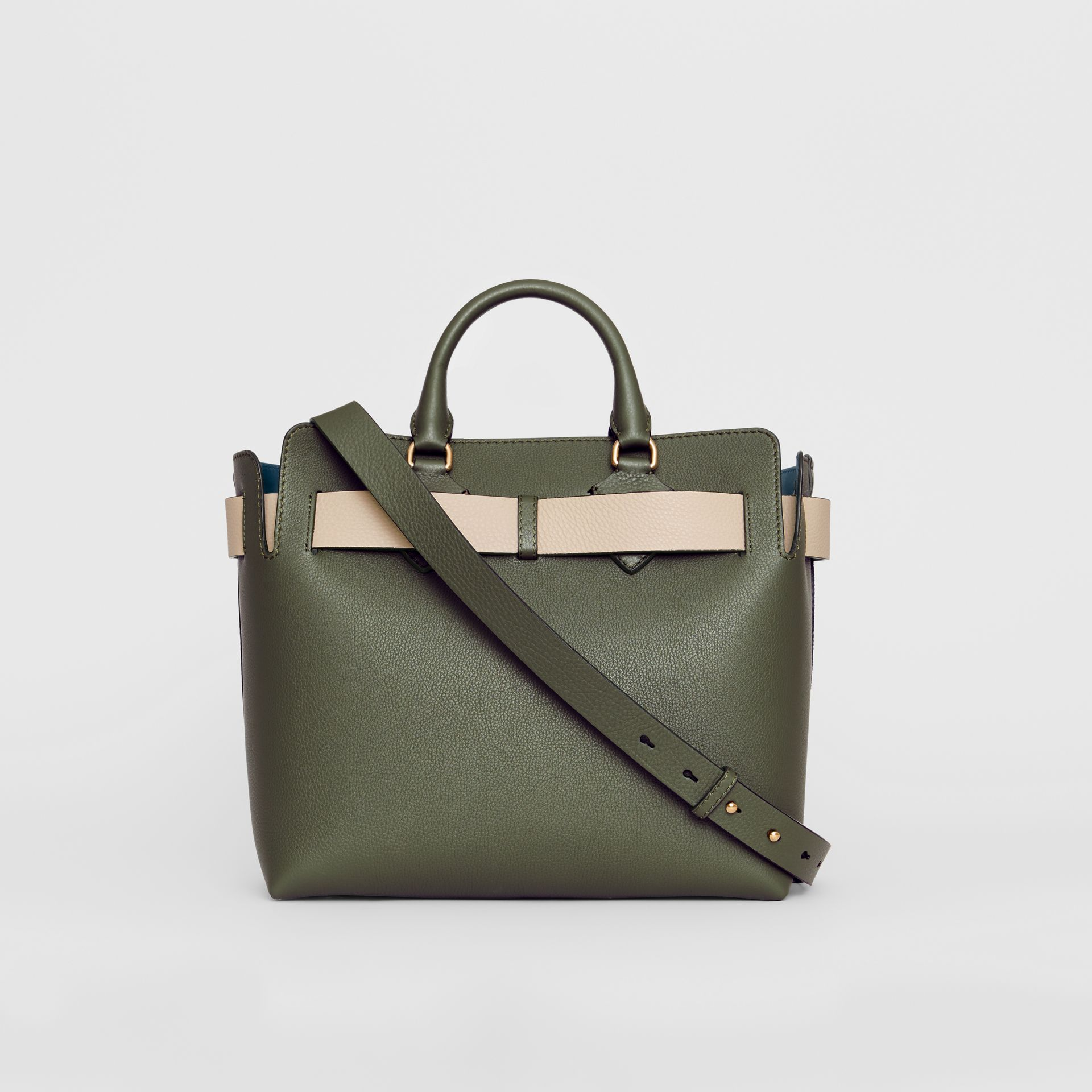 The Medium Leather Belt Bag in Sage Green - Women | Burberry United Kingdom - gallery image 7