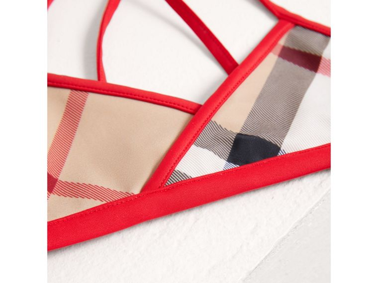 Check Bikini with Contrast Trim in New Classic - Girl | Burberry - cell image 1