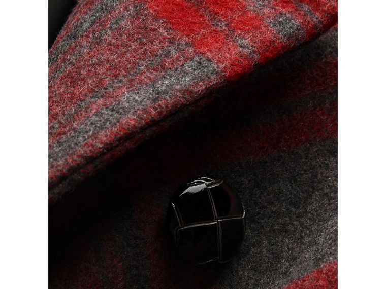 Tartan Wool Tailored Coat in Military Red - Girl | Burberry - cell image 1