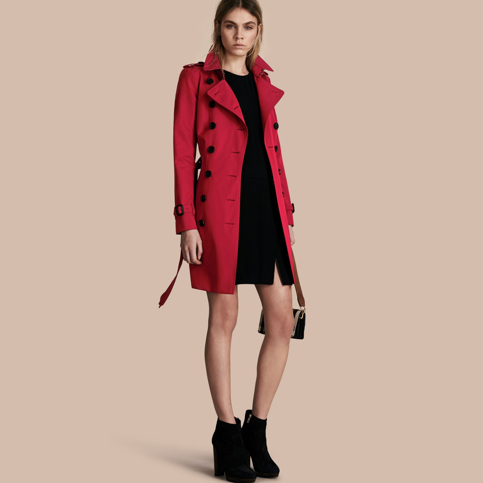 Parade red The Chelsea – Mid-length Heritage Trench Coat Parade Red - gallery image 1
