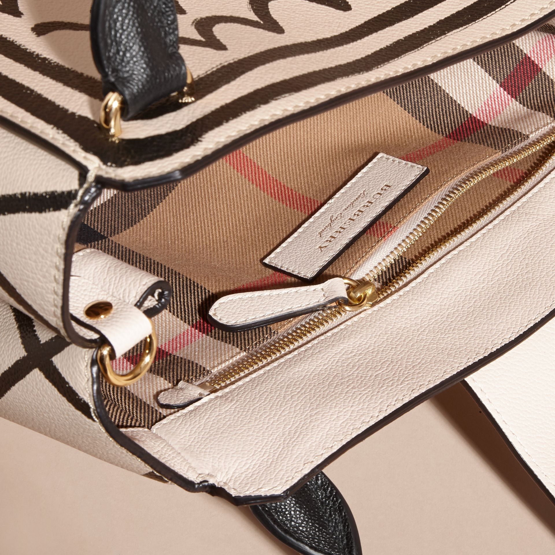 The Medium Buckle Tote in Trompe L'oeil Print Leather - gallery image 6
