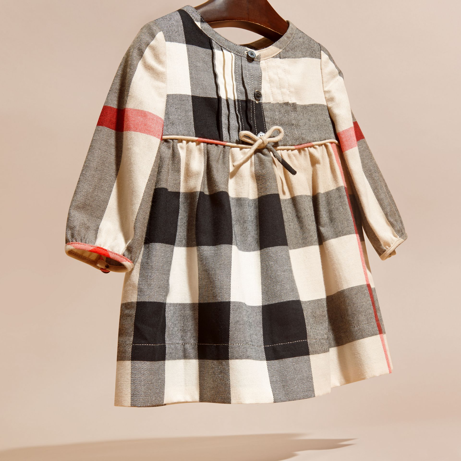 New classic womens Check Cotton Flannel Dress with Bow Detail - gallery image 3