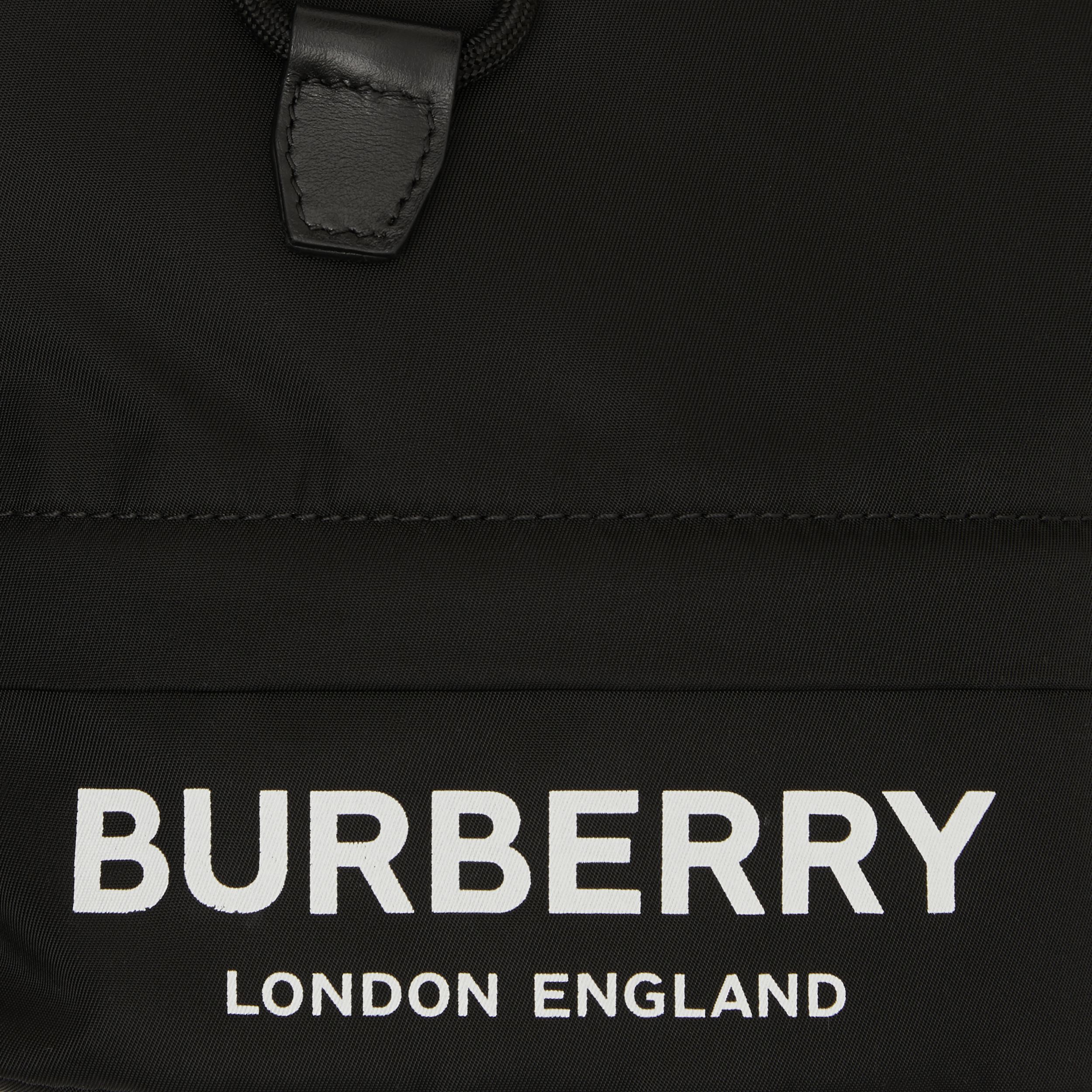 Logo Print Nylon Drawcord Pouch in Black - Women | Burberry United Kingdom - 2