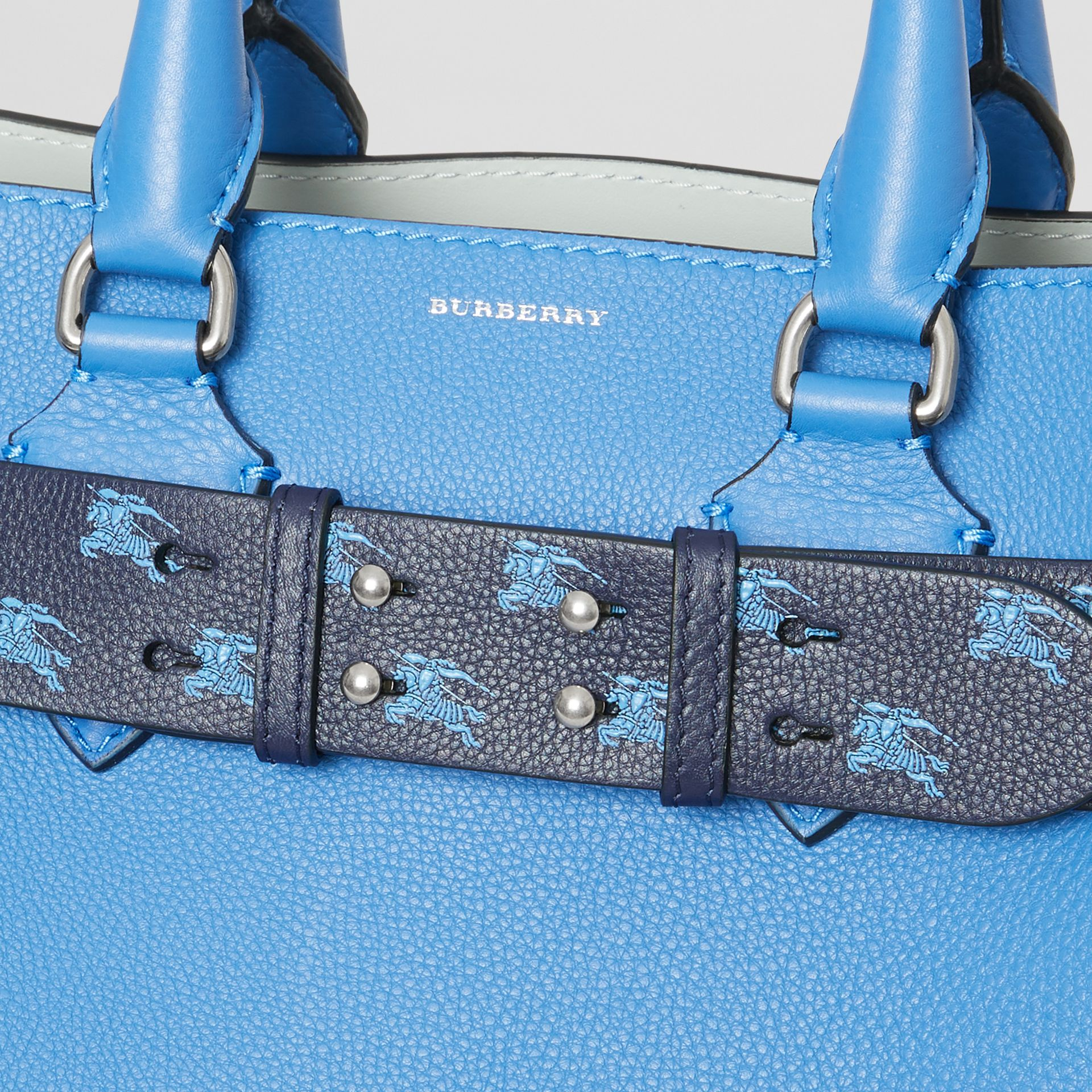 The Small Belt Bag EKD Leather Belt in Regency Blue - Women | Burberry - gallery image 1