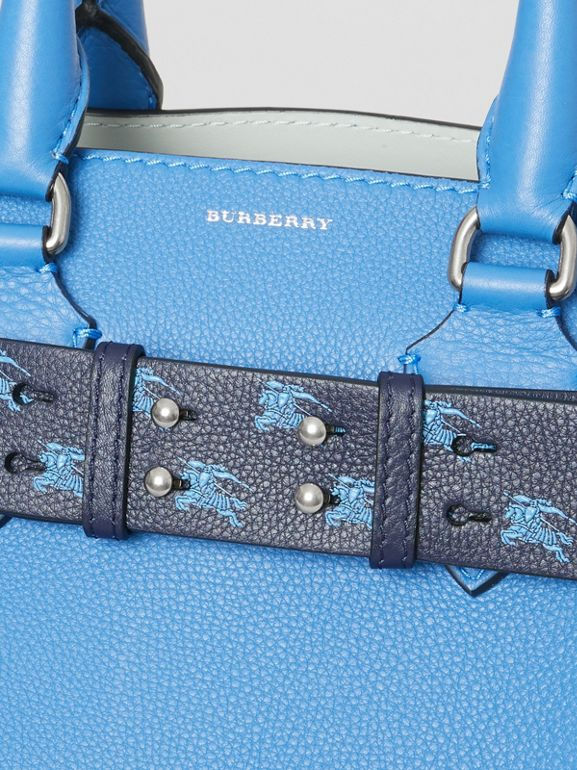 The Small Belt Bag EKD Leather Belt in Regency Blue - Women | Burberry Australia - cell image 1