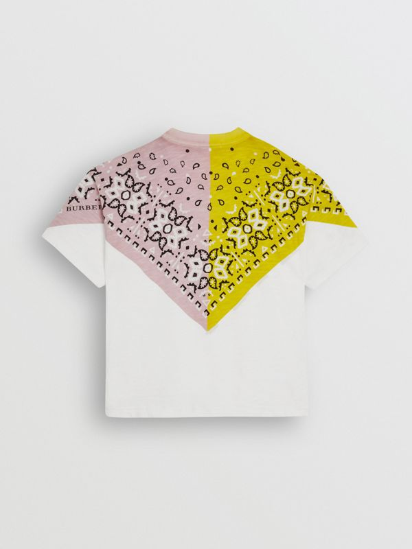 Bandana Print Cotton T-shirt in White | Burberry - cell image 3