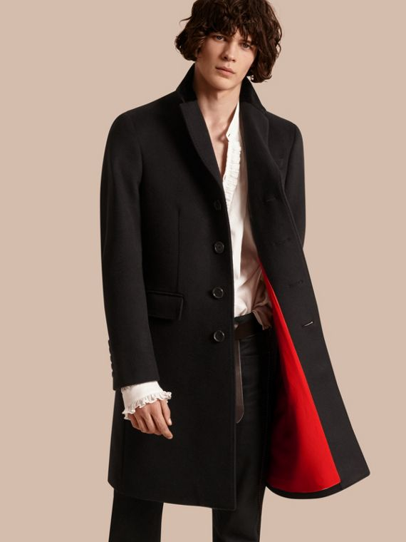 Rabbit Topcollar Wool Cashmere Coat