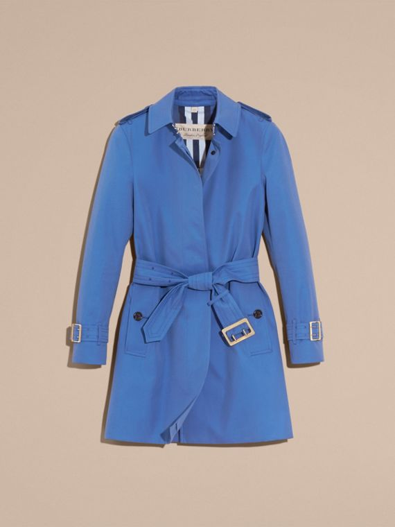 Bright steel blue Single-breasted Trench Coat with Metal Buckle Detail Bright Steel Blue - cell image 3