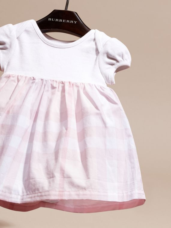 Ice pink Check Detail Cotton Dress Ice Pink - cell image 2