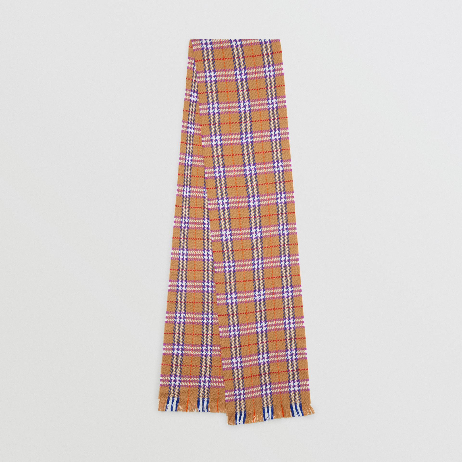 Check Merino Wool Scarf in Antique Yellow | Burberry - gallery image 0