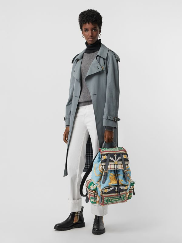 The Large Rucksack in Archive Scarf Print in Pale Stone Blue | Burberry - cell image 2