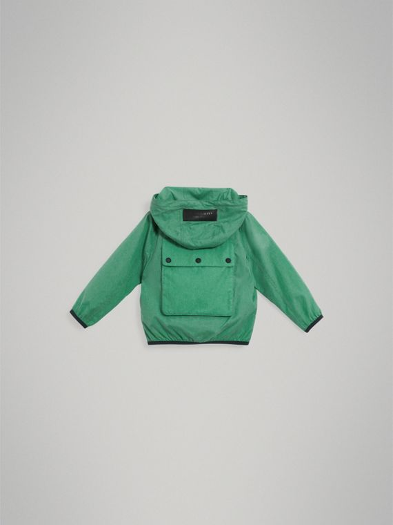 Showerproof Hooded Jacket in Vibrant Green - Boy | Burberry United States - cell image 3
