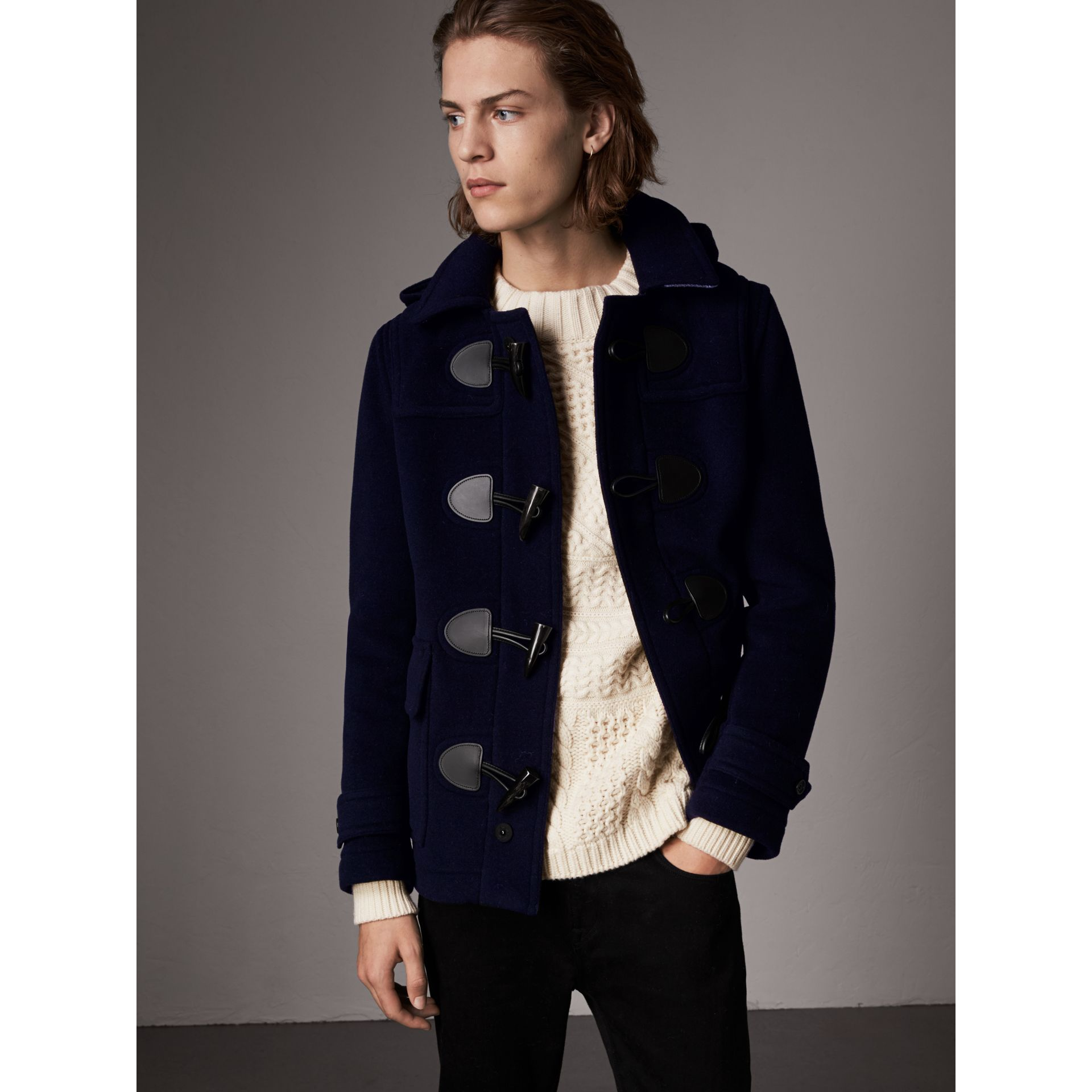 The Plymouth Duffle Coat in Navy - Men | Burberry - gallery image 6