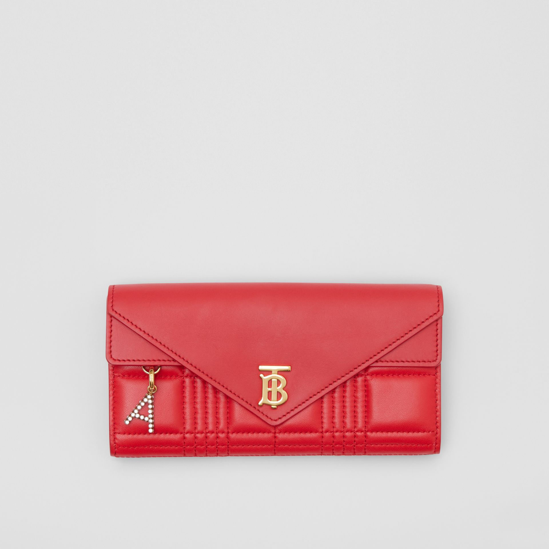 Monogram Motif Quilted Continental Wallet in Bright Red - Women | Burberry - gallery image 5