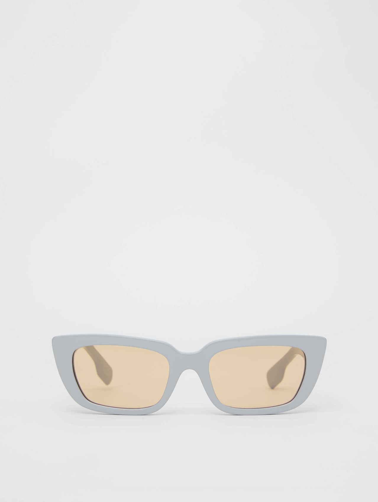 Bio-acetate Rectangular Frame Sunglasses in Grey