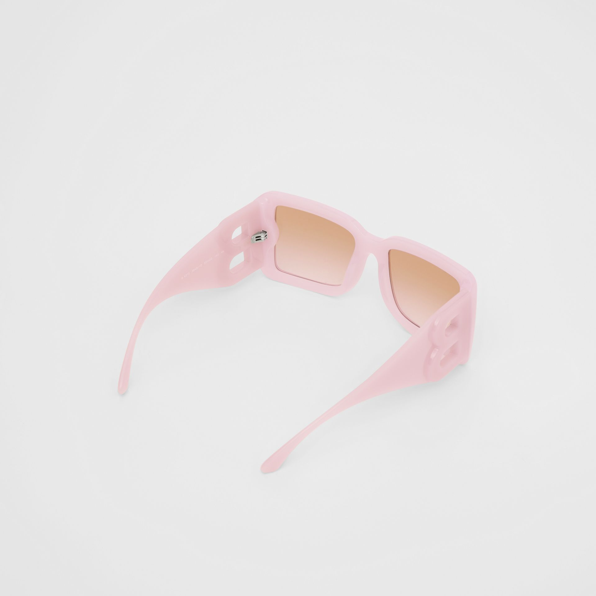 B Motif Square Frame Sunglasses in Lilac - Women   Burberry United Kingdom - gallery image 4