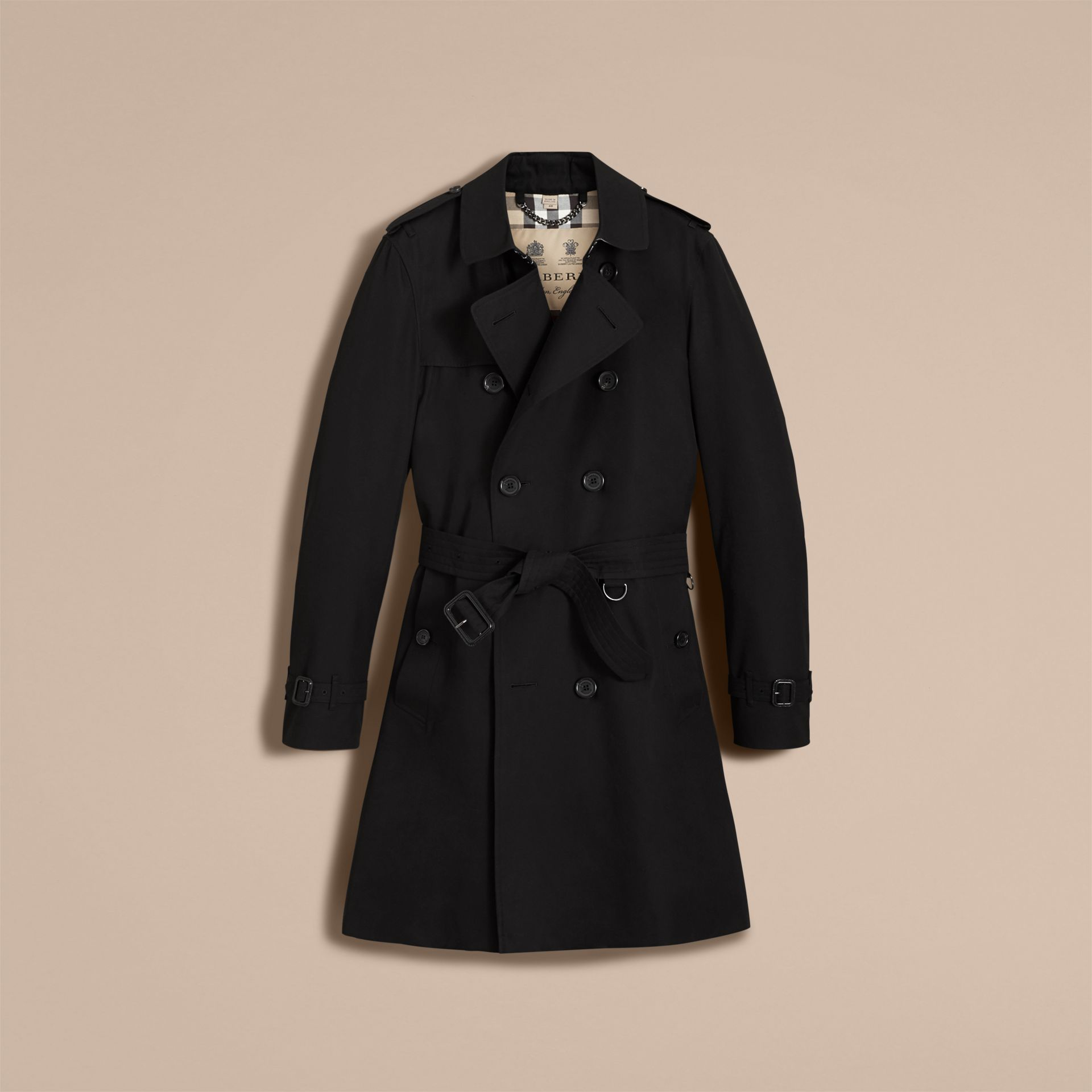 Black The Kensington – Long Heritage Trench Coat Black - gallery image 5