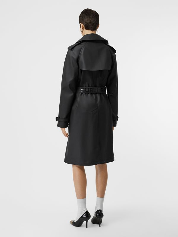 Logo Detail Showerproof Trench Coat in Black/white - Women | Burberry - cell image 2