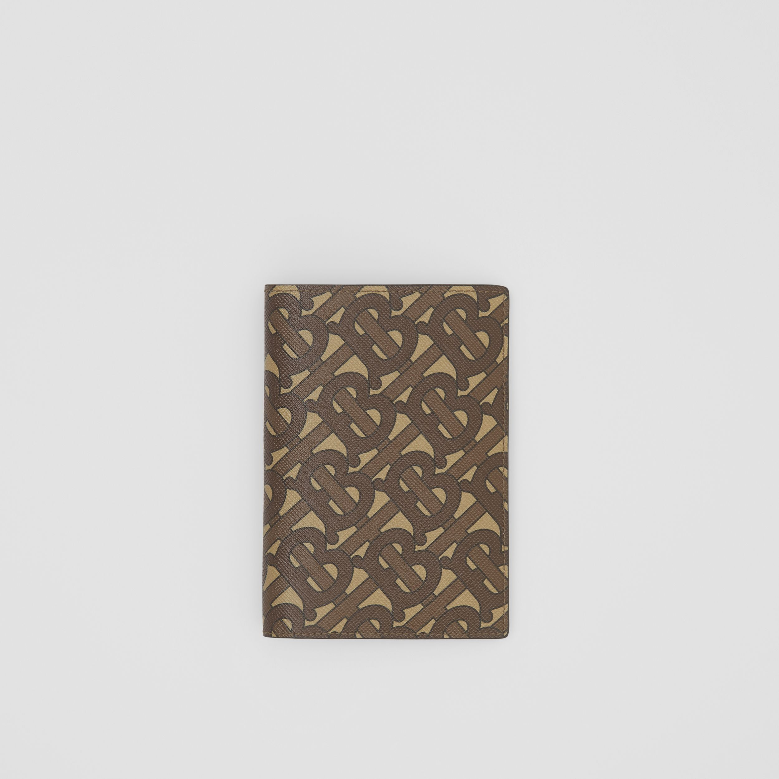 Monogram Print E-canvas Passport Holder in Bridle Brown - Men | Burberry Canada - 1