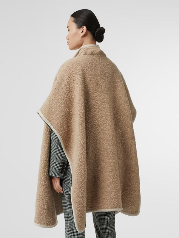 Wool Fleece Cape in Sand - Women | Burberry Australia - cell image 2