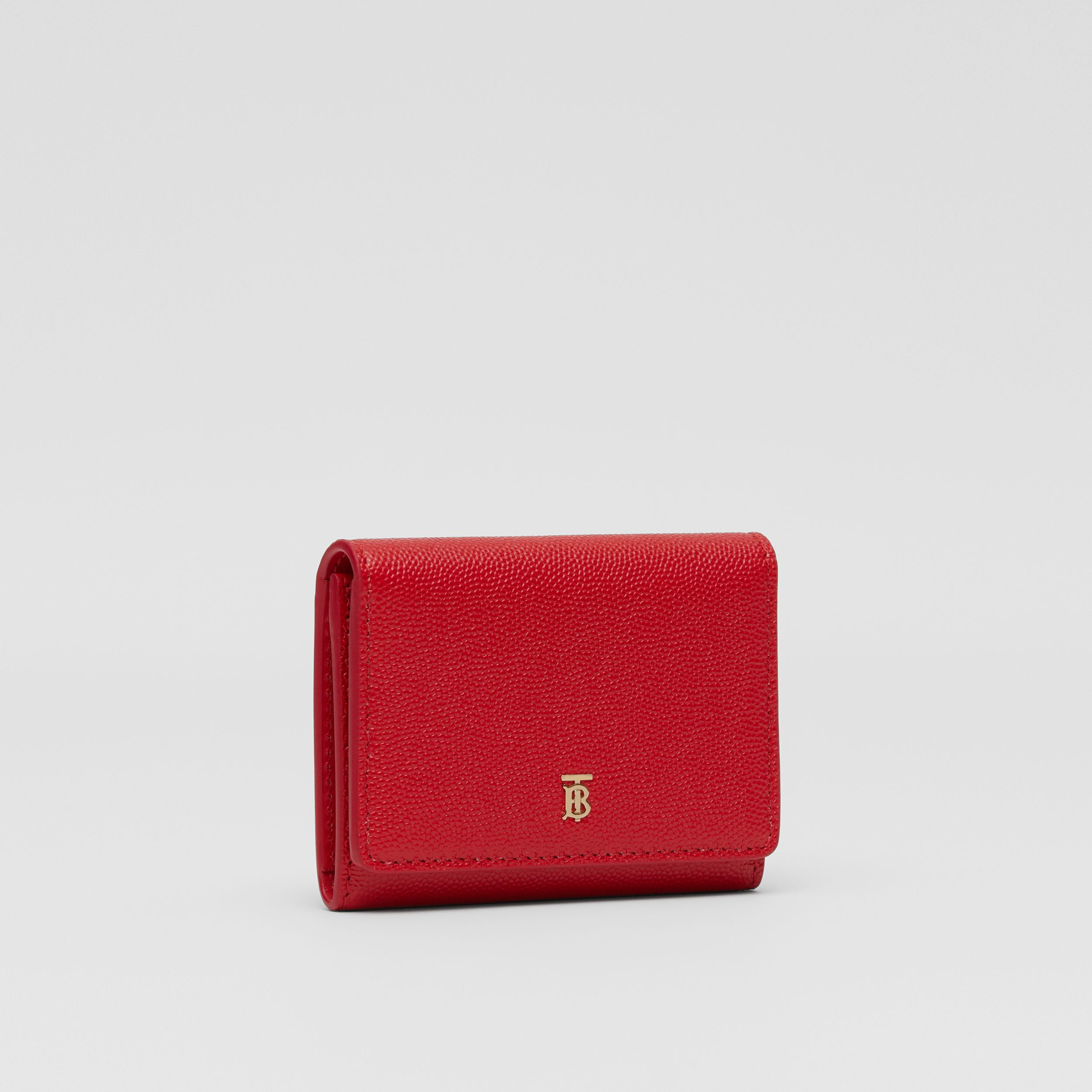 Grainy Leather ID Card Case in Bright Red - Women | Burberry - 4