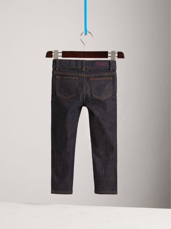 Skinny Fit Stretch Jeans in Dark Indigo | Burberry United Kingdom - cell image 3