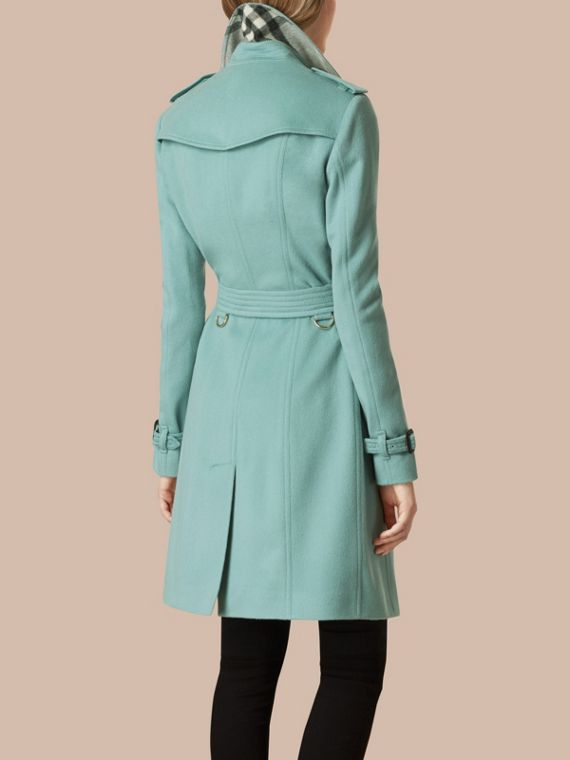 Dusty mint Sandringham Fit Cashmere Trench Coat Dusty Mint - cell image 2