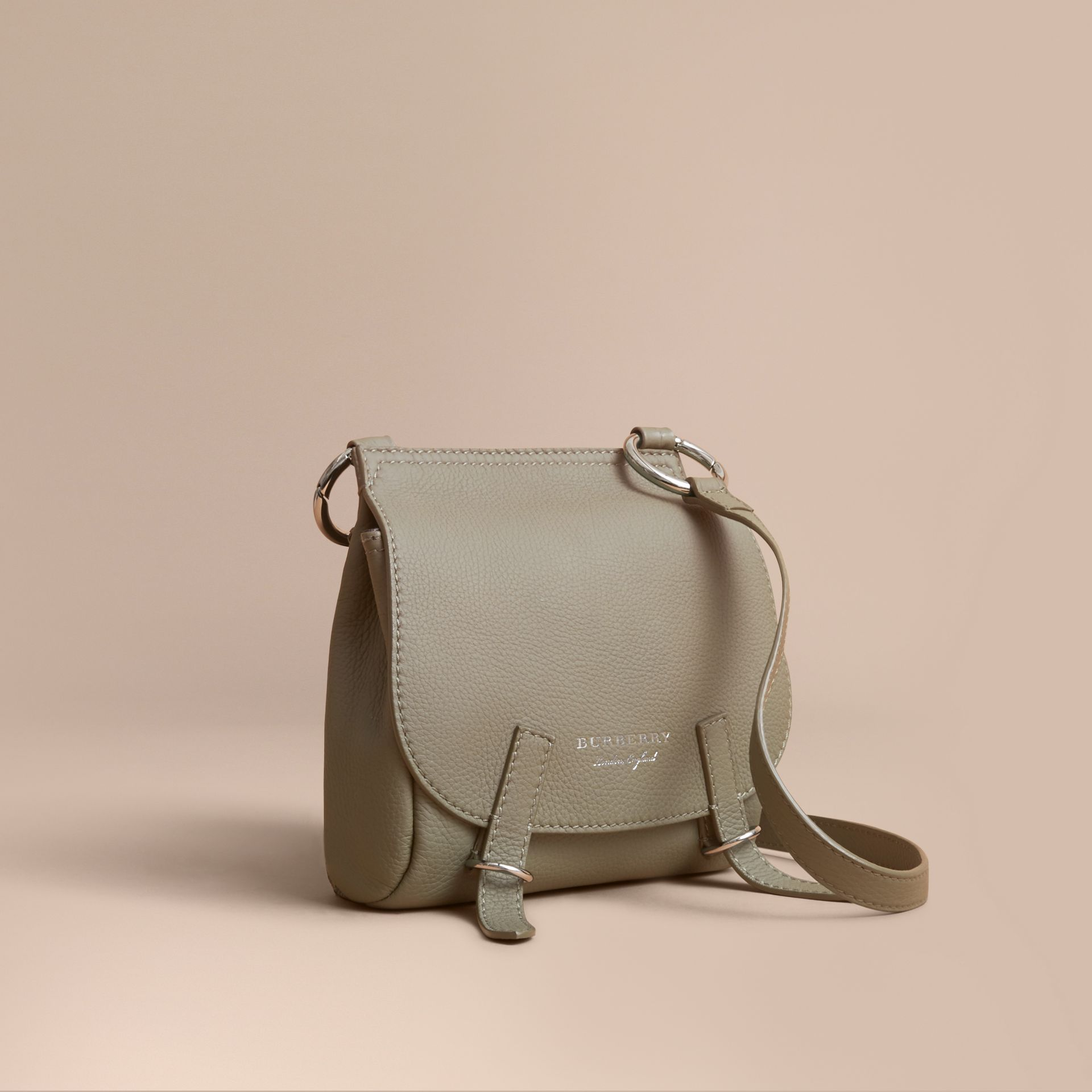 The Bridle Crossbody Bag in Deerskin in Slate Green - Women | Burberry - gallery image 1