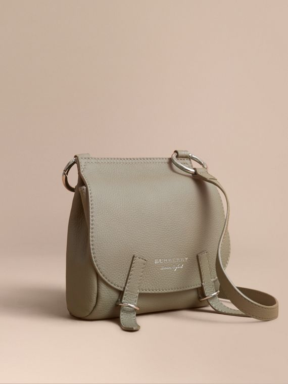 The Bridle Crossbody Bag in Deerskin in Slate Green - Women | Burberry