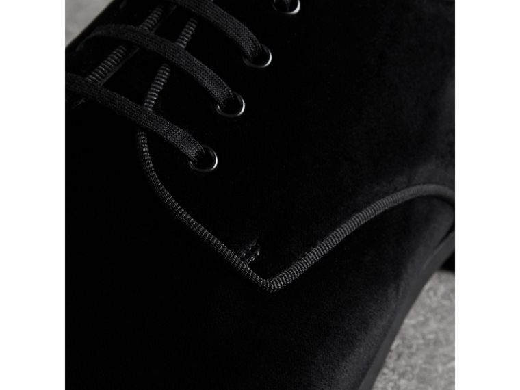 Velvet Derby Shoes in Black - Men | Burberry - cell image 1