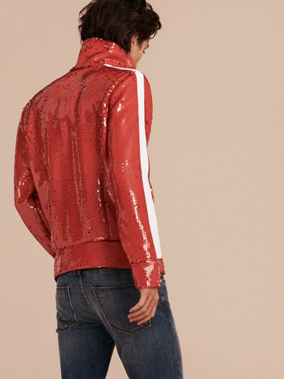 Cranberry-rot Trainingsjacke mit Pailletten - cell image 2
