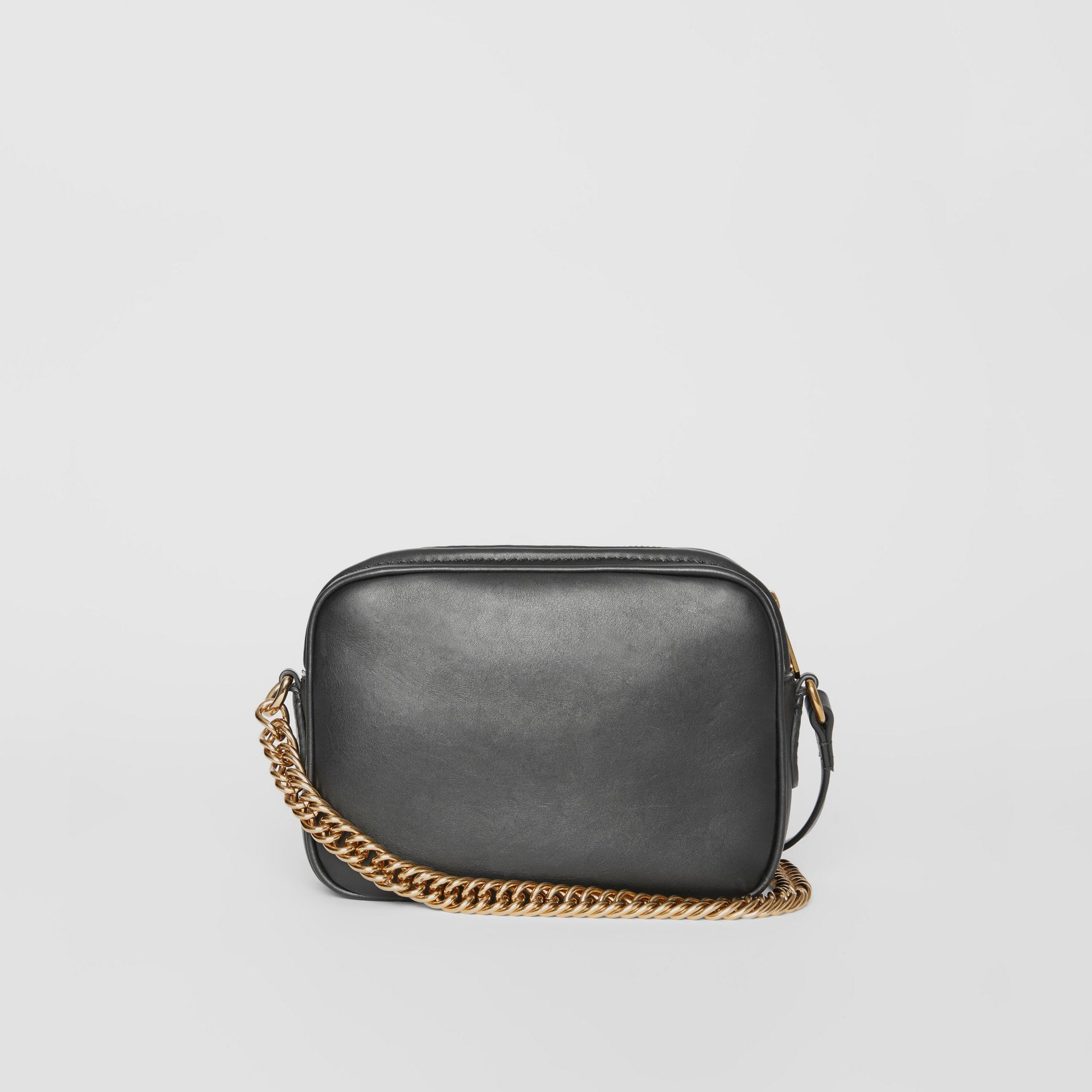 Leather Link Camera Bag in Black - Women | Burberry - gallery image 6