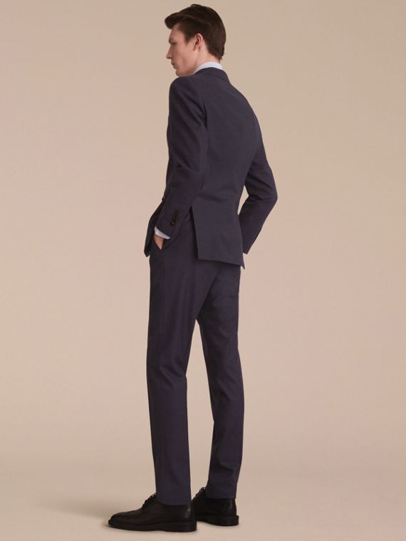 Soho Fit Wool Flannel Suit in Navy Melange - Men | Burberry - cell image 2