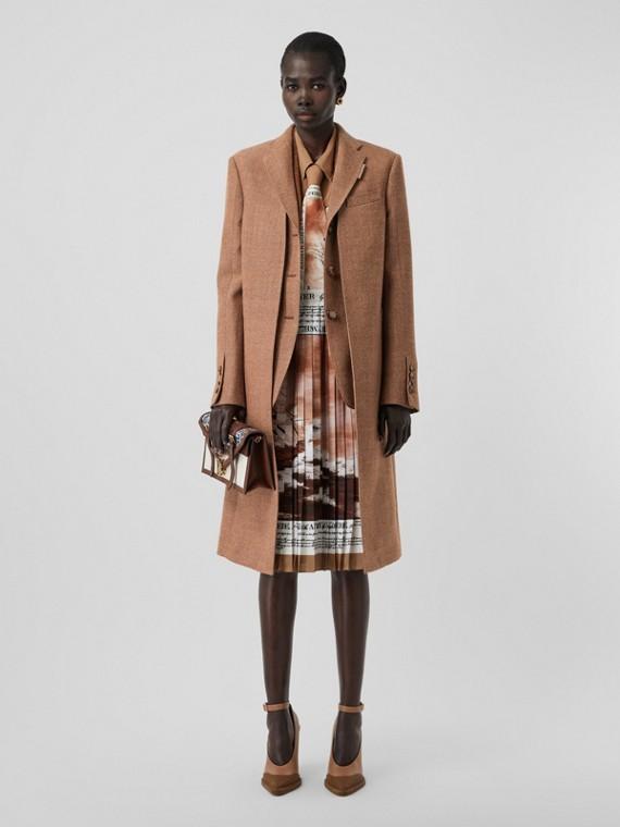 Пальто с отделкой в виде жилета (Бронза)