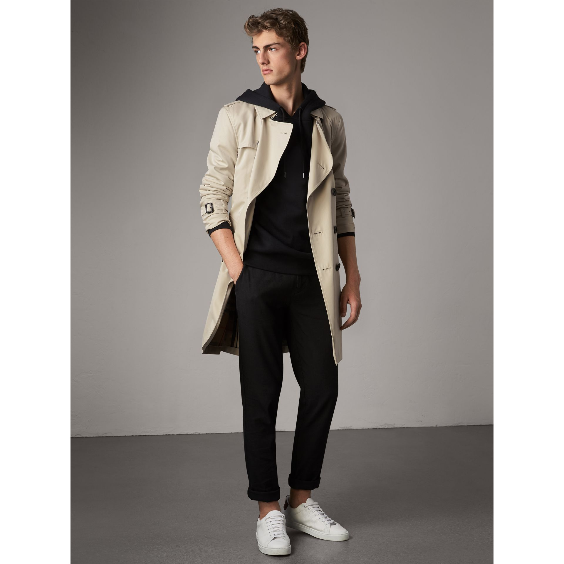 The Kensington – Trench long (Stone) - Homme | Burberry - photo de la galerie 1