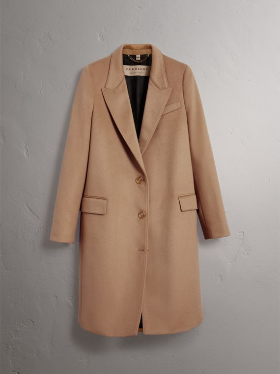Wool Cashmere Tailored Coat in Camel - Women | Burberry - cell image 3