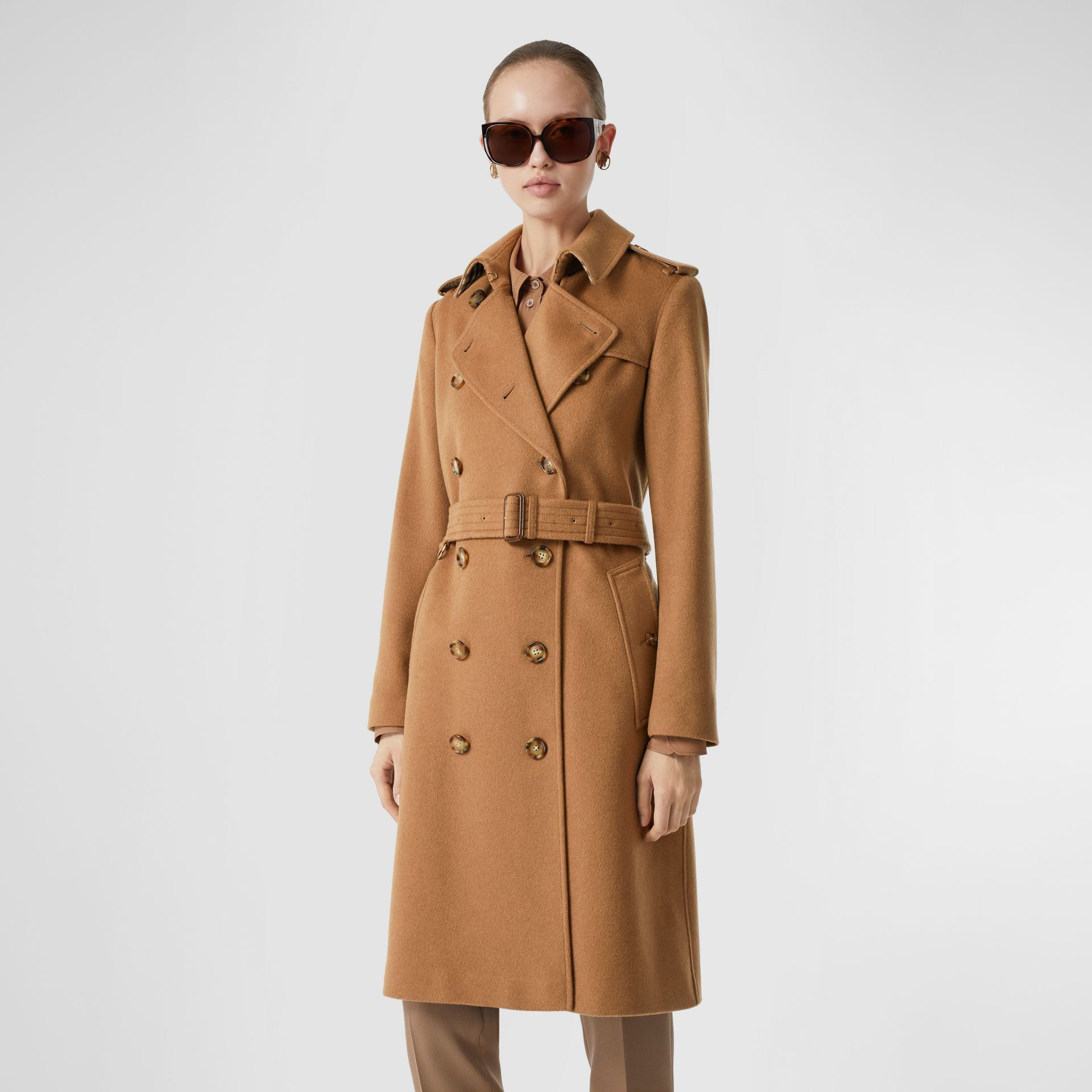 Cashmere Trench Coat in Bronze - Women | Burberry United Kingdom - gallery image 0