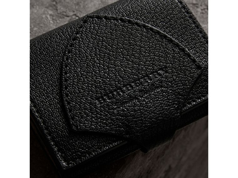 Equestrian Shield Two-tone Leather Folding Wallet in Black - Women | Burberry - cell image 1