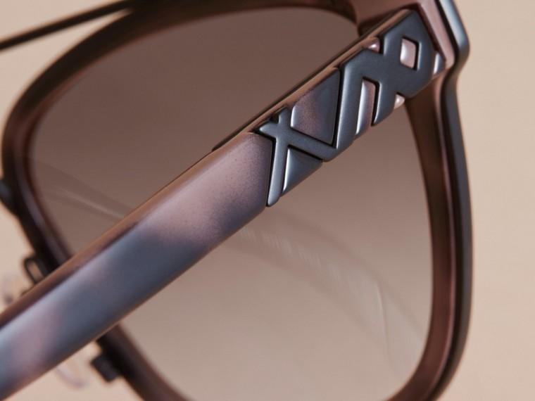 Top Bar Square Frame Sunglasses Tortoiseshell - cell image 1