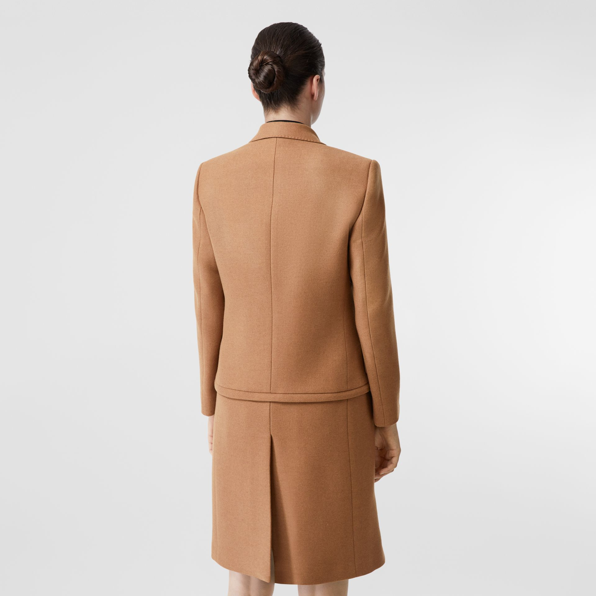 Camel Hair Tailored Coat with Detachable Gilet in Bronze - Women | Burberry - gallery image 8