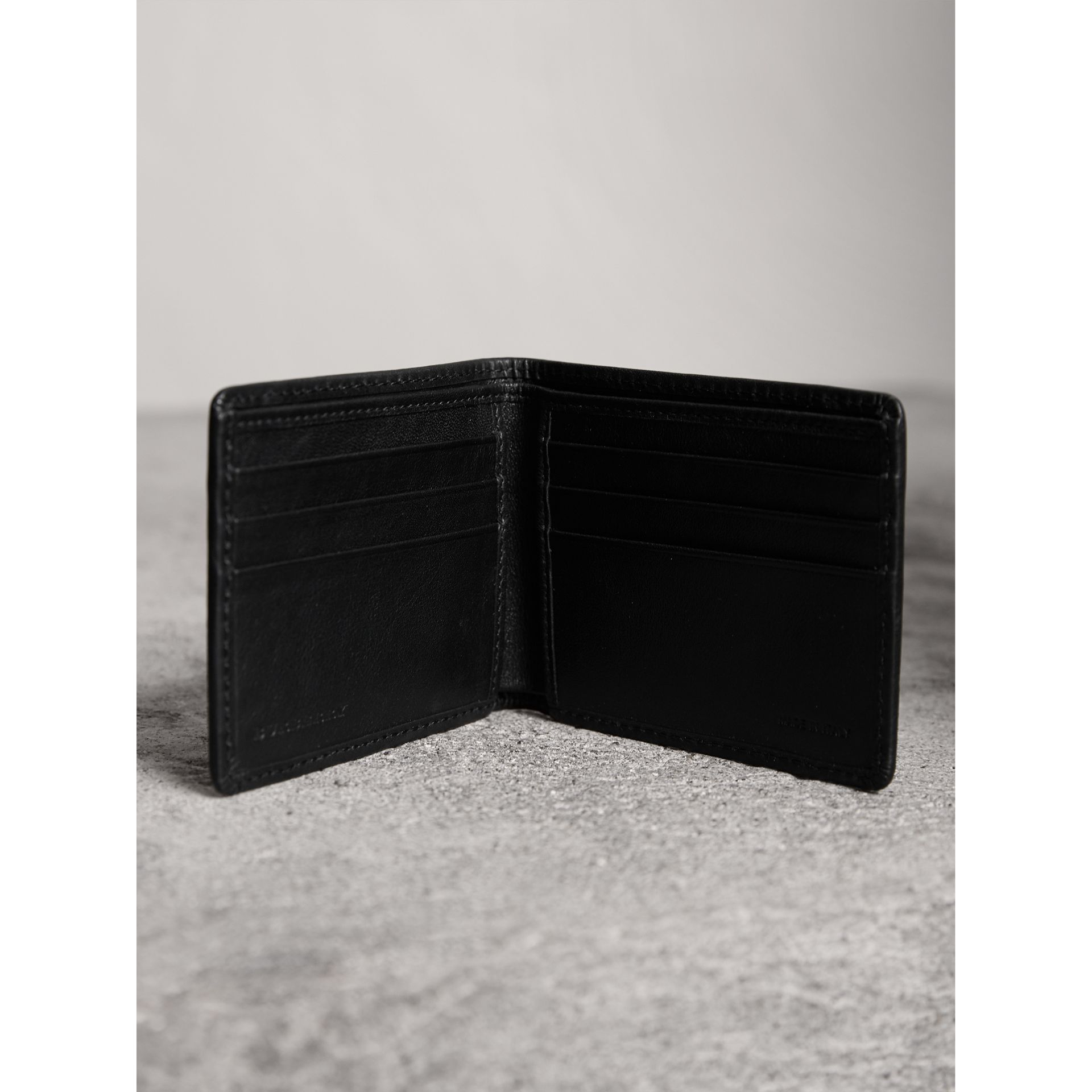 Horseferry Check Wallet in Charcoal/black - Men | Burberry - gallery image 4