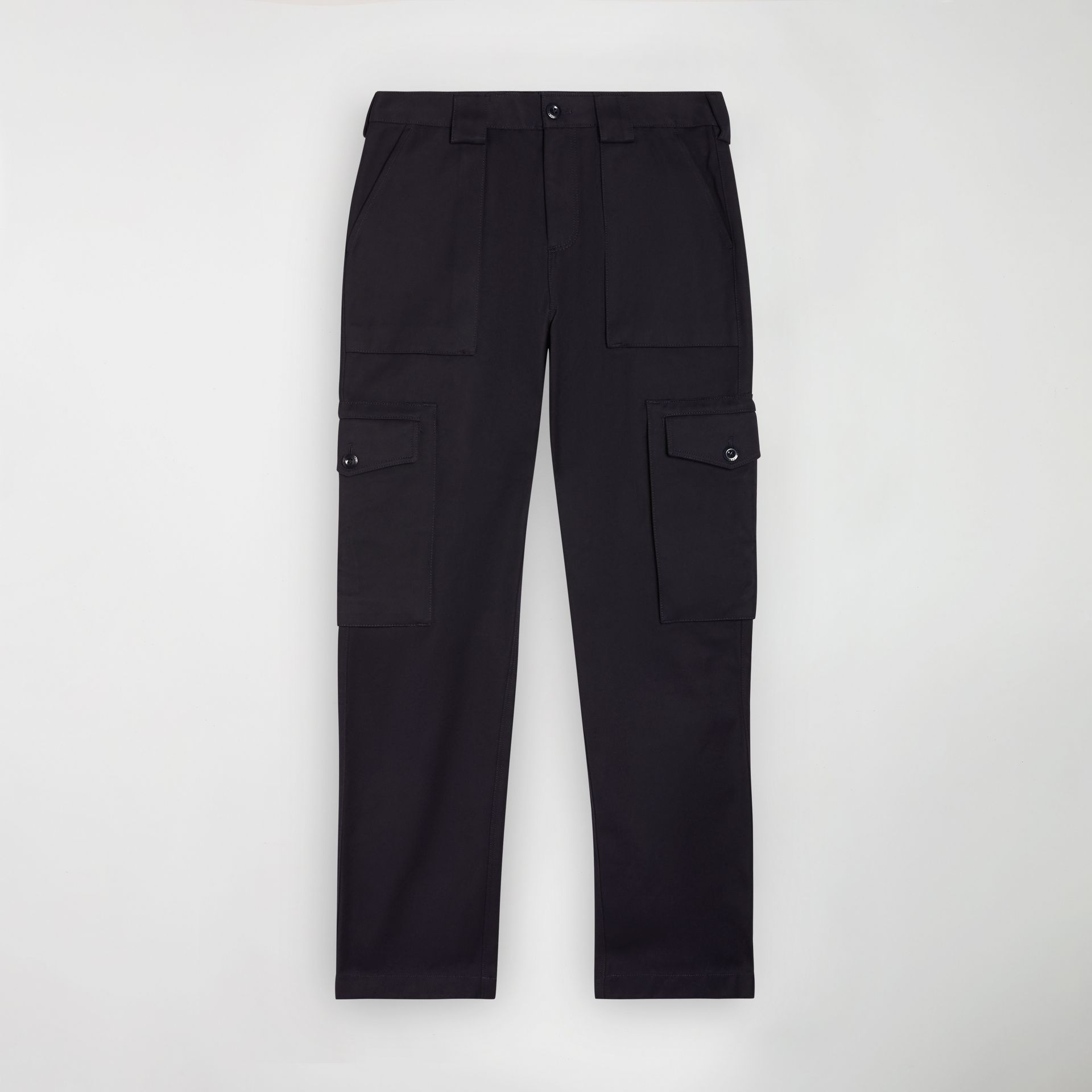 Technical Cotton Twill Cargo Trousers in Dark Navy - Men | Burberry - gallery image 3