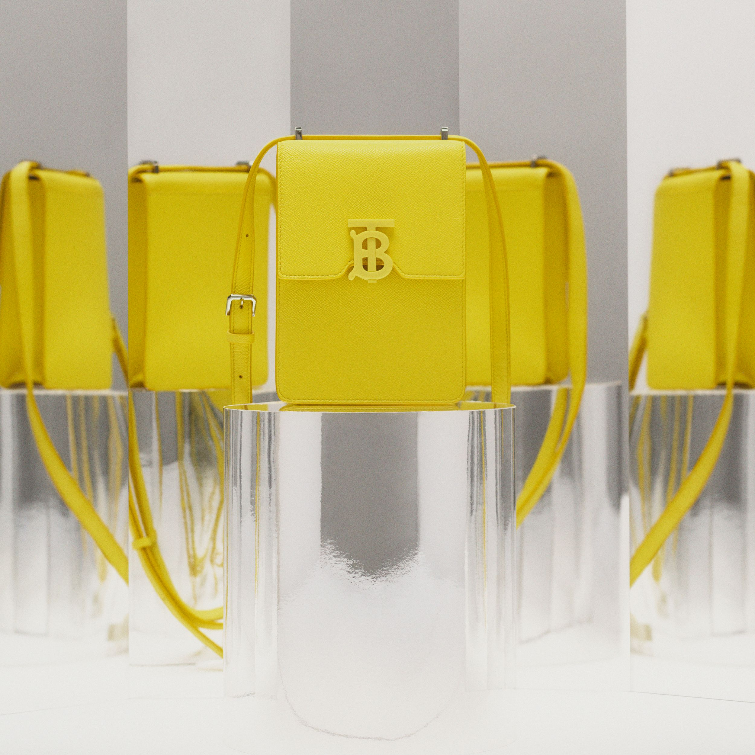 Grainy Leather Robin Bag in Marigold Yellow | Burberry - 2