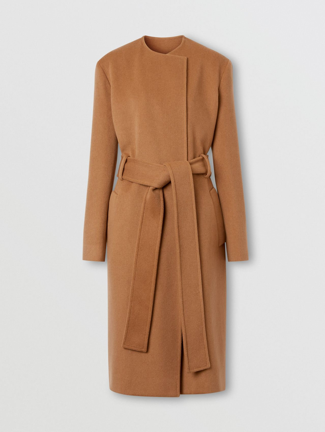 Cashmere Wrap Coat in Bronze