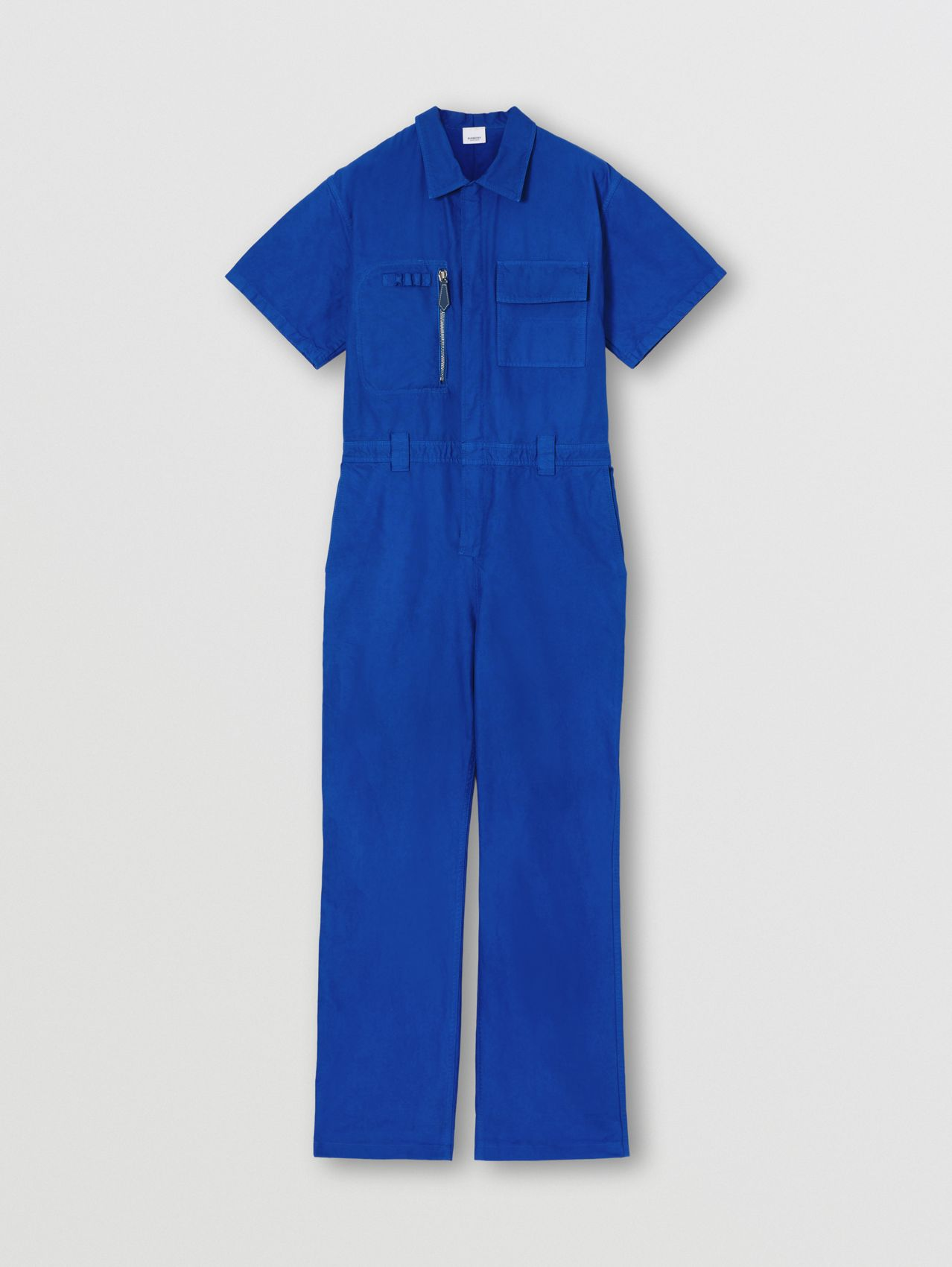 Cotton Canvas Boiler Suit in Midnight Navy