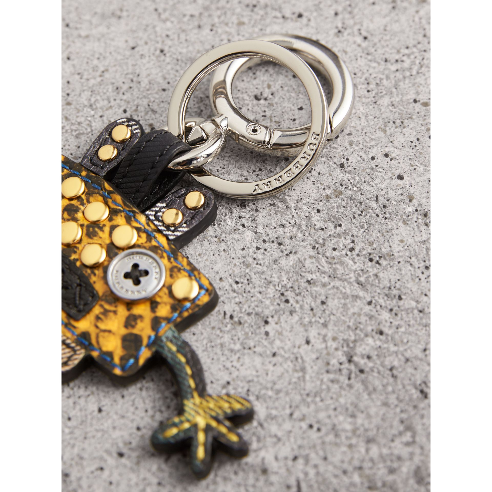 Creature Motif Python Print Key Ring in Bright Toffee - Men | Burberry - gallery image 1