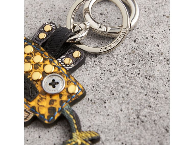 Creature Motif Python Print Key Ring in Bright Toffee - Men | Burberry - cell image 1